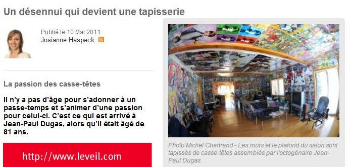 La Passion du Casse-Tete avec Jean-Paul Dugas