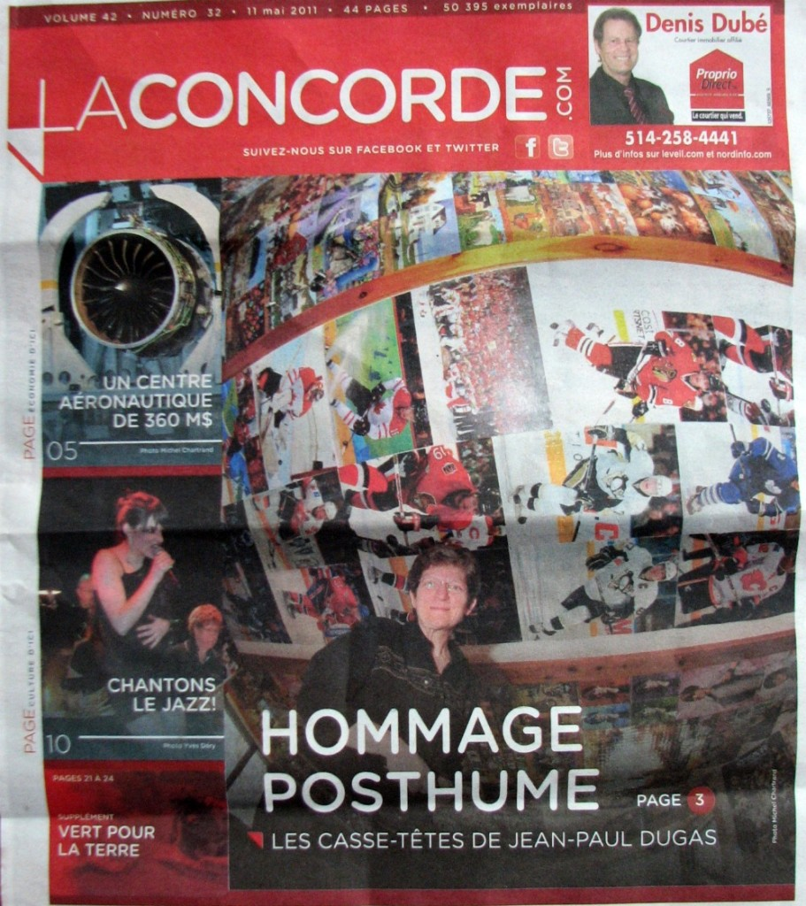 Hommage Posthume Jean-Paul Dugas - Josiane Haspeck - Journal LaConcorde